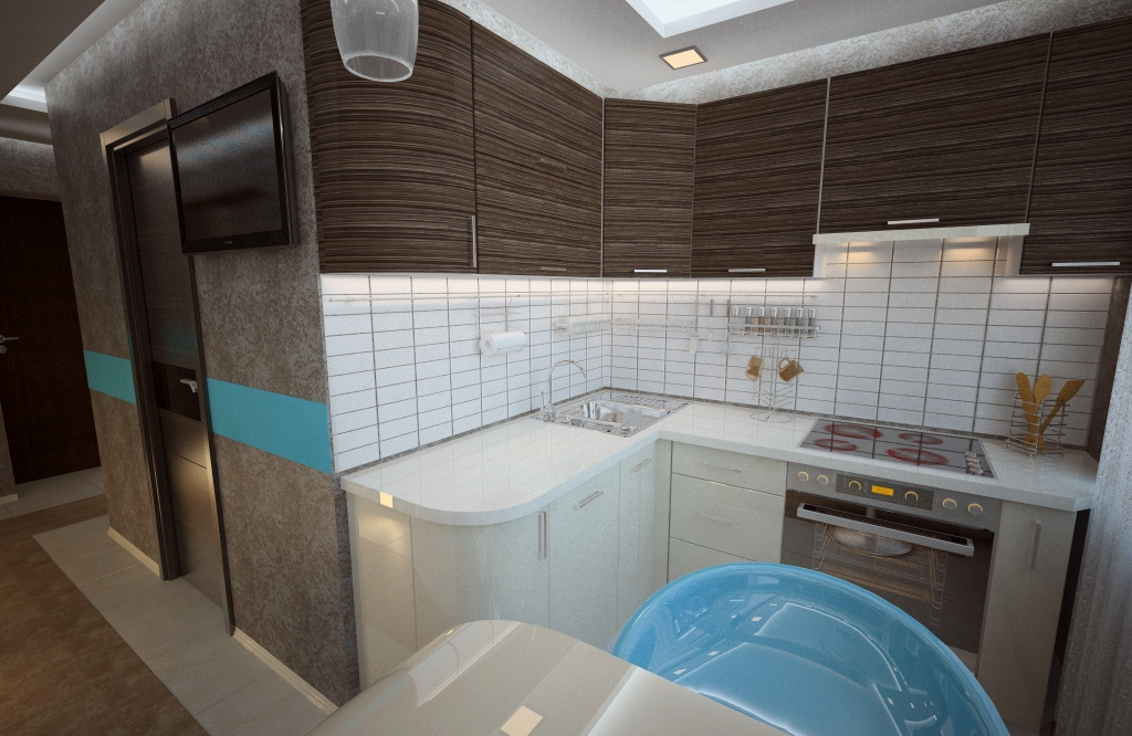 Перепланировка брежневки - трехкомнатной, 2 и 4 комнаты